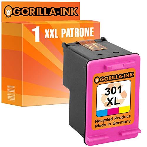 Gorilla Ink 1 cartucho compatible para HP 301 XL Color | adecuado ...