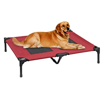 Homgrace Cama plegale para mascotas perros gatos cómoda, fresca y transpirable Color Negro y Rojo (L): Amazon.es: Productos para mascotas