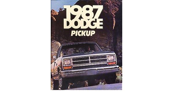 1987 Dodge Ram 100 Pickup Truck Original Dealers Sales Brochure Catalog J0615