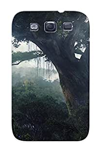 Ultra Slim Fit Hard Chapiterq Case Cover Specially Made For Galaxy S3- Trees Landscape Jungle Forest Fog Mist