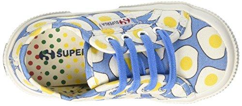 Superga Kinder-Unisex 2750-Fantasy COTJ Niedrige Sneaker Multicolore (Eggs Blue)
