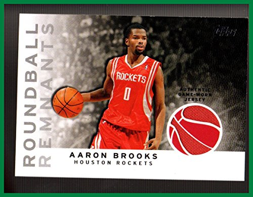 2009-10 Topps Roundball Remnants #RRAB Aaron Brooks GAME USED JERSEY HOUSTON ROCKETS