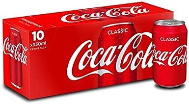 Coca-Cola Fridge Pack 10 x 330 ml: Amazon.es: Alimentación y bebidas