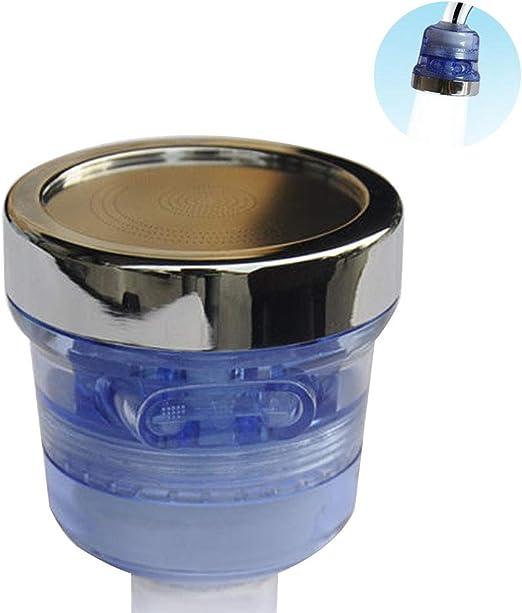 Tapón de grifo purificador de agua filtro cabeza Tapa Declorinación Boquilla purificador de agua 3 vías spray de agua eficiente eliminación del cloro fácil de limpiar cocina limpiador red: Amazon.es: Hogar