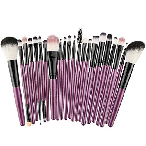 Hot,Yang-Yi 2018 Women 22pc Beauty Cosmetic Makeup Brush Blusher Eye Shadow Brushes Set Kit (Purple, (Blusher Set)
