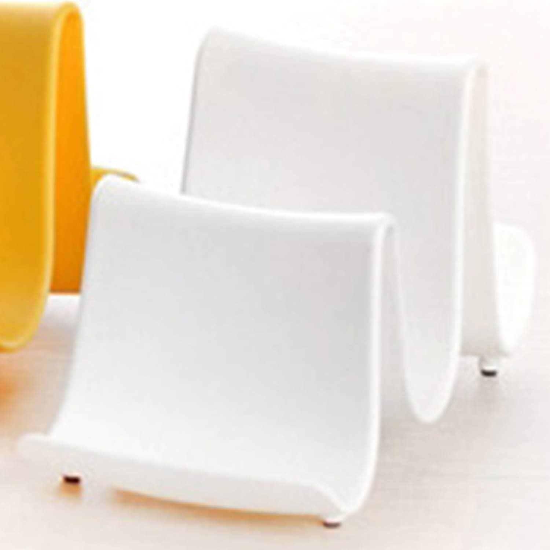 FairytaleMM Creative Wave Design Portable Pot En Plastique Pan Plateau Couverture Couvercle Louche Organisateur Stand Titulaire Support Cuisine Outil-blanc