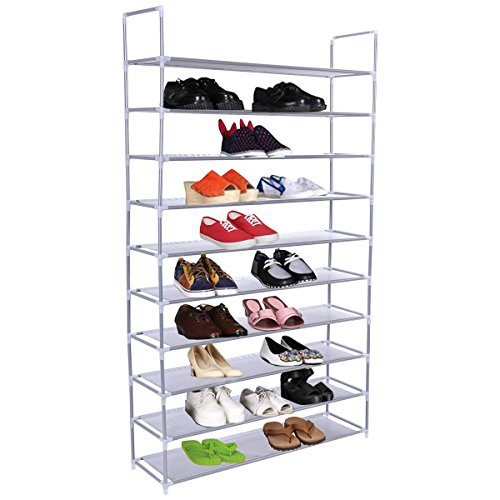 Shoe Tower Rack Wall Shelf Closet Organizer Storage Space Stand 50 - Mumbai Shopping Mirror
