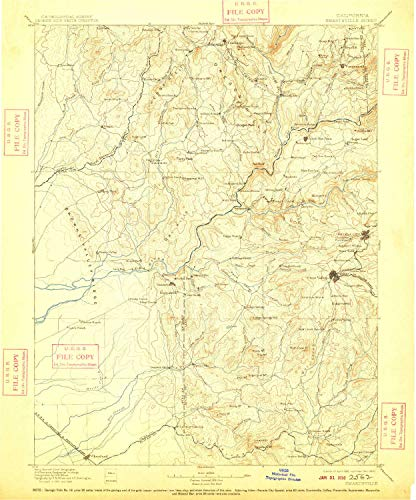 YellowMaps Smartsville CA topo map, 1:125000 Scale, 30 X 30 Minute, Historical, 1895, Updated 1909, 19.9 x 16.5 in - Paper -