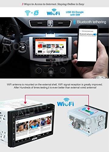 2017NEW-ATOTO-A6-2DIN-Android-Car-Navigation-Stereo-with-Dual-Bluetooth-2A-Charge-Car-Entertainment-Multimedia-RadioWiFiBT-Tethering-internetsupport-256G-SD-more