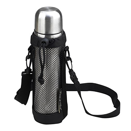 (Picnic at Ascot Thermal Coffee And Tea Flask With Mesh Carrier, Black/Stainless)
