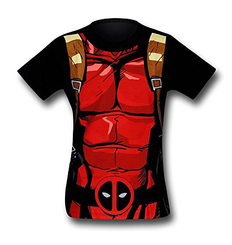 Deadpool Black 30 Single Costume T-Shirt - Medium
