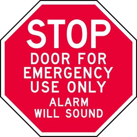 Sign, Door For Emergency Use