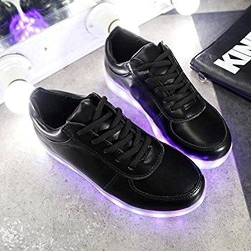 Presente de con athletic brillo JUNGLEST® luz Black Fluorescence con Hombre toalla deporte s Mujer Zapatillas pequeña LED sport qxq6nUwrYP