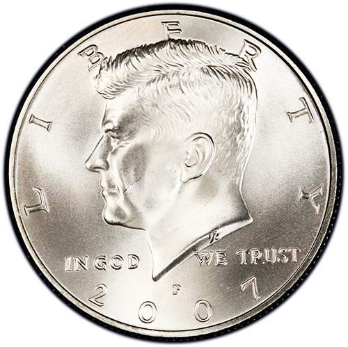 2007-P   Choice BU  Mint State Kennedy US Half Dollar Coin