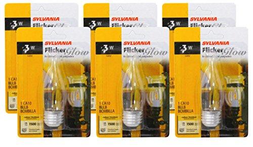 SYLVANIA Flicker 3 Watt 6 Pack Medium