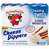 Laughing Cow Original Swiss Cheese Dippers with Breadsticks, 6.17 Ounce - 6 per case.