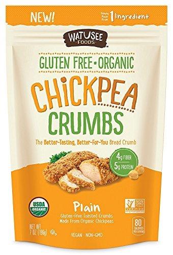 Watusee Organic Chickpea Crumbs, Gluten Free, Better Than Bread Crumbs 7 oz/bag (case of 10 bags) by Watusee Foods