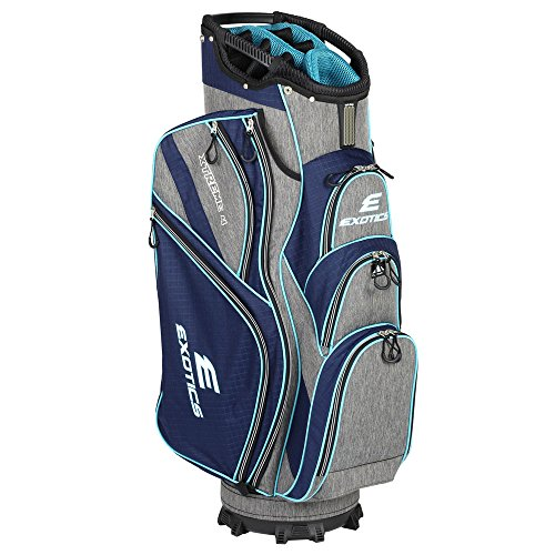 Tour Edge Male Exotics Xtreme4 Cart Bag (Men's, Exotics Ladies Extreme 4 Cart Bag Navy Scratch Plaid/Teal Review
