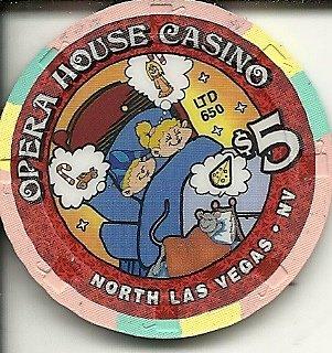 $5 opera house las vegas casino chip limited to 650