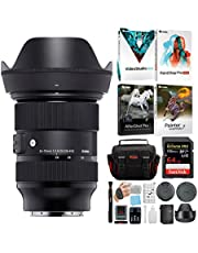 Sigma 24-70mm f/2.8 DG DN Art Zoom Full Frame E-Mount Lens with 64GB Extreme PRO SD Card and Advanced Travel Bundle (4 Items) photo
