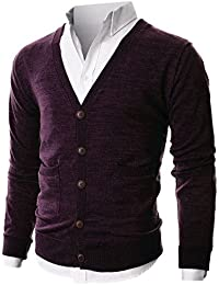 Mens Slim Fit Ribbed Knit Cardigan With Pockets