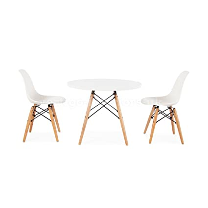 Peachy Eames Style Kids Round White Table 2 Kids Dsw Chairs Cjindustries Chair Design For Home Cjindustriesco
