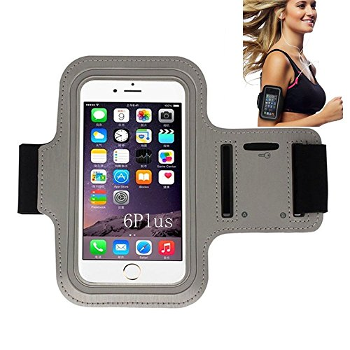 iPhone 6 Armband, Morris Water Resistant Sports Armband with Key Holder for iPhone 6, 6S (4.7-Inch), Galaxy S3/S4, iPhone 5/5C/5S, Bundle with Screen Protector (Gray)