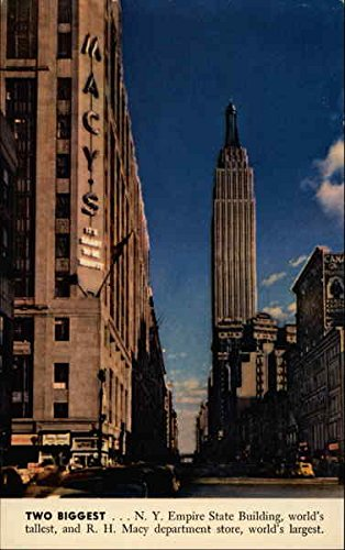 Empire State Building and R.H. Macy Department Store New York, New York Original Vintage - New York Store Macys