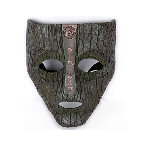 Charmgle Resin Loki Mask Deluxe Jim Carrey The Mask Halloween Fancy Dress Costume (Dark Green)]()