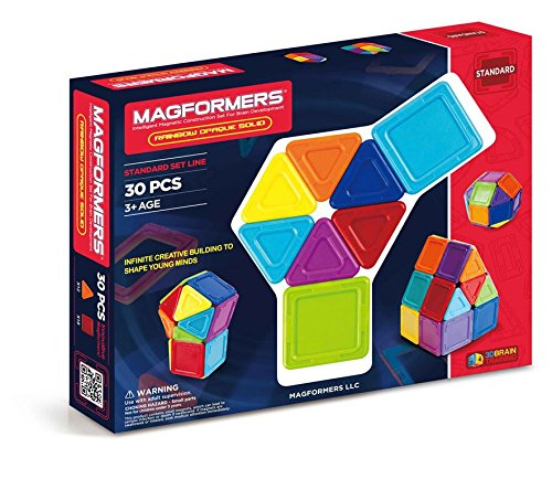 Magformers Standard Rainbow Opaque 30 pieces