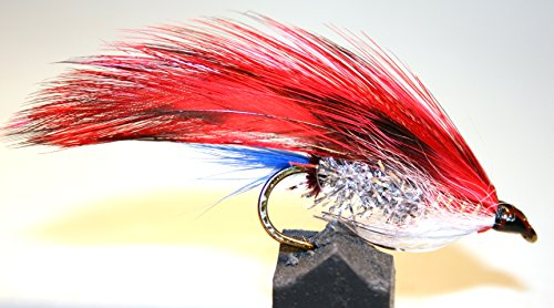 Ice flies streamer fly flaedarmus red for salmon for Ice fishing flies
