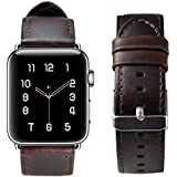 SHIELDA For Apple Watch Band 42MM,Shielda Retro Genuine Leather Strap Replacement Band For Apple Watch Series 3 / 2 / 1 (Coffee)