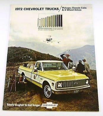 1972 72 Chevy CHEVROLET TRUCK BROCHURE Pickup C10 ()
