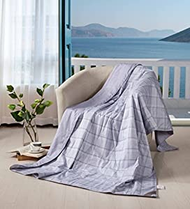 THXSILK Silk Throw Children Blanket/Portable Travel Standard Blanket Filled with 100% Natural Silk from TAIHU SNOW