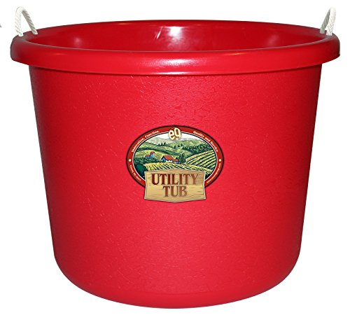 Emsco Group 2652 17.5 Gallon Utility Tub Bucket, Picker Red for $<!--$39.99-->