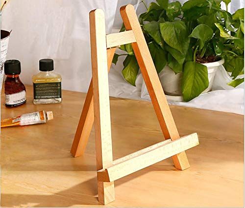 Sugars 11inch Portable Wooden Tripod Tabletop Display Small Easel for Sketching Painting Small Artist Easel Phase Frame