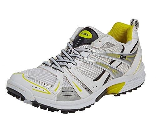 GUNN & MOORE Aura Junior Cricket Shoe, White, US4