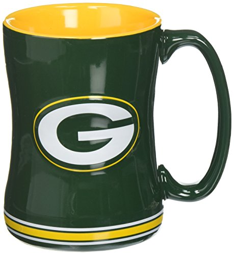 NFL Green Bay Packers Boxed Relief Sculpted Mug - Green Bay Packers Ceramic