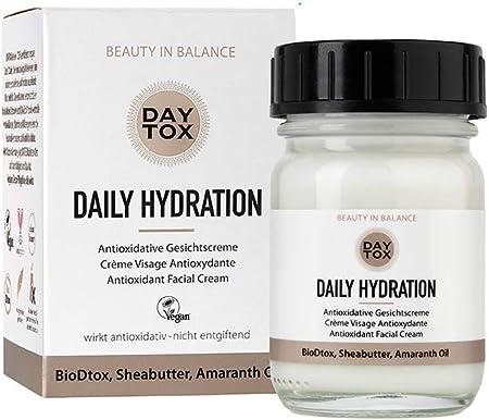 DAYTOX Daily Hydration - Crema Facial Antioxidante - Protección contra los Radicales Libres - Vegano - Sin Colorantes, sin Silicona y sin Parabenos - 1 x 50 ml