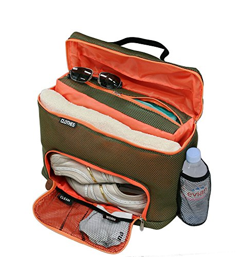 G.U.S. Mesh Workout and Sport Gear Bag with Separate Shoe Compartment, Gym Duffle for Travel for Men and (Nike Mizuno Womens Shoes)