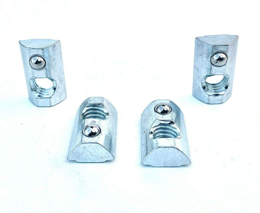 8020 Equivalent, 13040 15 Series 24 Pcs of 5//16-18 Roll-in T-Nut with Ball Spring