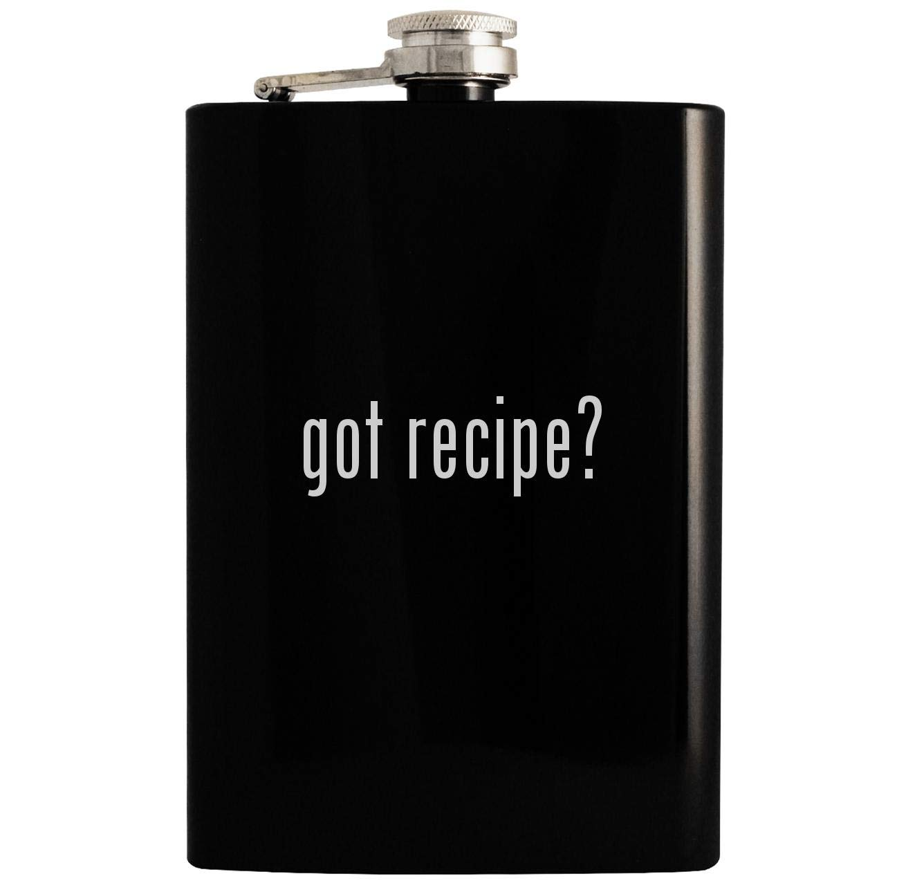 got recipe? - 8oz Hip Drinking Alcohol Flask, Black