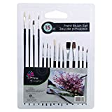 Time 4 Crafts 16327, 15-pc Artist Brushes, 8.5 x 11.5 inches, Black