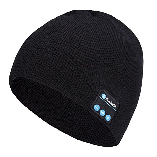 Shnmin Bluetooth Beanie Hat For Men Women Wireless Knit Music Cap Built-In Microphone Christmas Gift