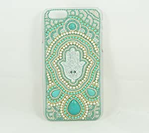 iPhone 6/6S Hard Case with Bling Hamsa Design