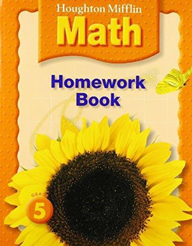 Houghton Mifflin Math: Homework Book (Consumable) Grade 5