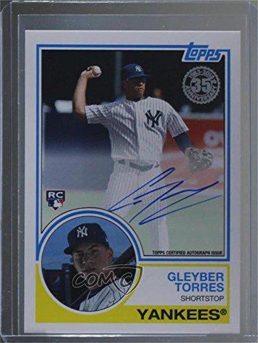 Gleyber Torres (Baseball Card) 2018 Topps - 1983 Topps Design Autographs - Autographs Torres