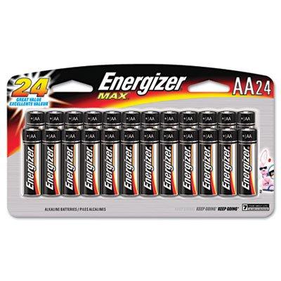 Energizer E91SBP24H Energizer Alkaline Battery, AA, 24/PK, BKSR