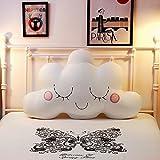 DW&HX Child Bedside Back cushion,Reading pillow Pillow lovely cotton Back cushion Removable Bed backs-D 120x80cm(47x31inch)