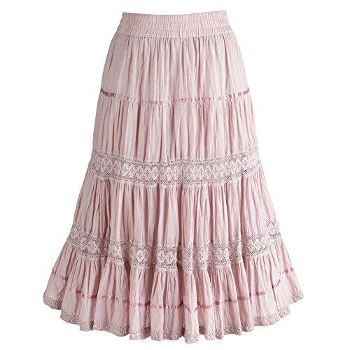 Womens Pink Blush Mid Calf Skirt product image